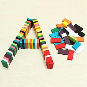 Bộ 100 Thanh Domino Gỗ Nhiều Màu Siêu Hot DMN11