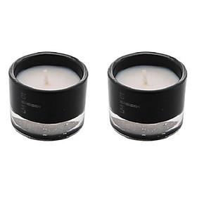 Bộ 2 nến thơm ly thủy tinh đen Miss Candle FtraMart