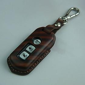 Bao chìa khóa SH - H.o.n.d.a - màu vân gỗ đậm - da bò nhập khẩu DT200