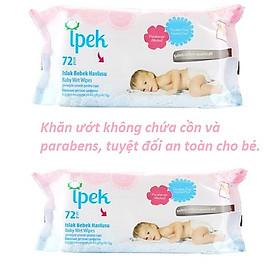 Khăn ướt không cồn cho trẻ em Ipek Thổ Nhĩ Kì 72 miếng