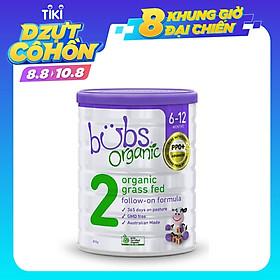 Sữa bò hữu cơ Bubs số 2 cho trẻ 6 - 12 tháng tuổi