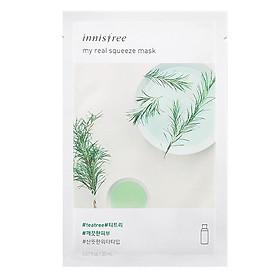Hình thu nhỏ Mặt Nạ Giấy Dưỡng Ẩm & Làm Sáng Da Từ Cây Trà Innisfree My Real Squeeze Mask - Tea Tree (20ml)