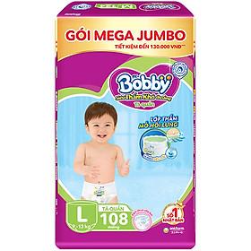 Tã Quần Bobby - Đệm Lưng Thấm Mồ Hôi L108 (108 Miếng)