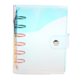 A6 6 Holes  PVC Loose-leaf Cover Laser Multi-color Notebook Sheet Binder