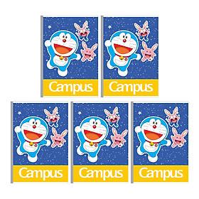 Lốc 5 Cuốn Vở B5 Kẻ Ngang Có Chấm Campus Doaremon NB-BDME200 - ĐL 60 (200 Trang) - Mẫu Ngẫu Nhiên