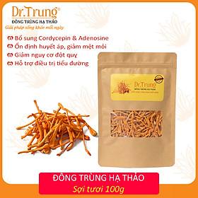 Đông trùng hạ thảo DR. TRUNG (SỢI TƯƠI - Gói 100 Gram) - Loại CAO CẤP (Adenosine & Cordycepin cao tăng miễn dịch, cải thiện sức khỏe, ngủ ngon, giảm nguy cơ đột quỵ)