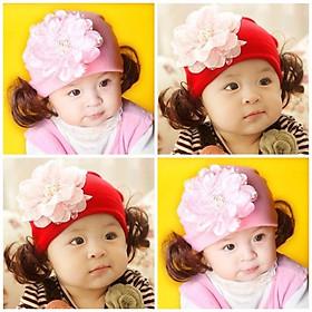 Mũ len tóc giả cho bé gái - MLTGH10