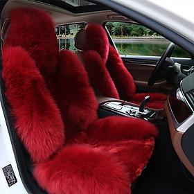 Bộ áo ghế ô tô lông cừu với bộ năm ghế cho dòng xe ô tô 4 chỗ và 5 chỗ sang trọng và lịch lãm từng chi tiết