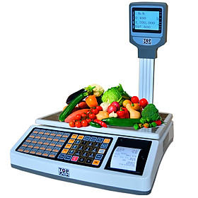 Cân tính tiền in hóa đơn TOPCASH AL-S36 dùng để tính tiền quầy hoa quả, trái cây, thịt cá, hải sản trong Shop, siêu thị mini, trung tâm bán hoa quả, quầy bán thực phẩm - Hàng chính hãng
