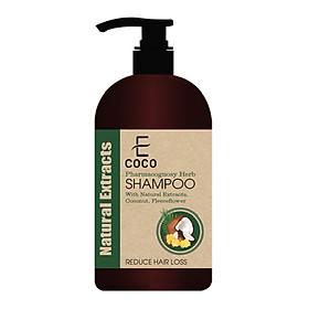 Dầu gội dược liệu sạch giảm rụng tóc Ecoco với chiết xuất tự nhiên, dừa, hà thủ ô  180g