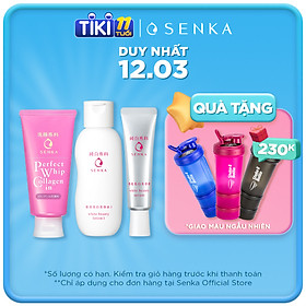 Combo Senka Thắm Đượm Tình Xuân (White Beauty Lotion 200ml + Serum White Beauty 35g +  SRM Collagen 120g)