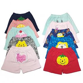 Combo 10 quần đùi mông thú cho bé gái hàng xuất chất siêu đẹp chất lượng