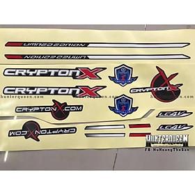 Tem uv ép nhiệt dành cho xe exciter 2006 crypton x đen đỏ (bộ)