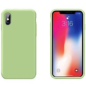 """Ốp Lưng Liquid Silicone Dẻo Lót Nhung Cho iPhone XS Max ( 6.5"""" ) - Chống Bám Vân Tay & Viền Bảo Vệ Camera ( Có 10 Màu Để Lựa Chọn )"""