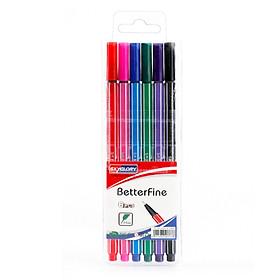 Bộ bút dạ đầu kim 0.4mm SKYGLORY dùng cho vẽ viết sổ
