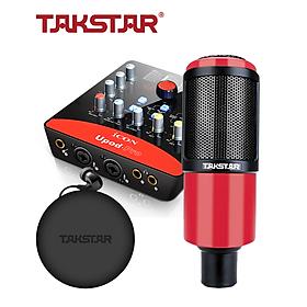 Combo thu âm, livestream souncard icon upod pro, mic PC-K320, tai nghe TS 2260 kèm đầy đủ phụ kiện - hàng chính hãng
