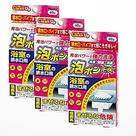 Bộ 3 bột thông tắc, diệt khuẩn đường ống cống - Hàng nội địa Nhật