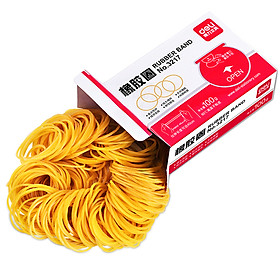 Deli 3217 boxed economical and practical elastic rubber ring / rubber band / leather band 100g