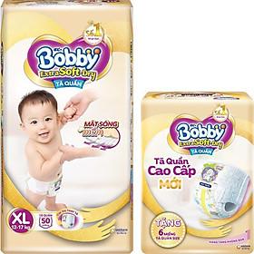 Tã Quần Bobby Extra Soft Dry XL50 [Tặng 6 Miếng Tã Quần size XL]