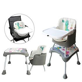 Ghế ăn dặm đa năng 3 in 1 cho bé Mastela 1016 - ghế ăn cao, ghế ăn thấp, bàn ghế tập vẽ thông minh cho bé từ 6 tháng