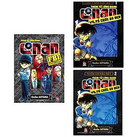 Combo 3 cuốn truyện hấp dẫn Thám Tử Lừng Danh Conan Vs. Tổ Chức Áo Đen - Tập 1 + Tập 2 + Tuyển Tập Đặc Biệt: FBI Selection ( Tặng kèm Postcard Happy Life)