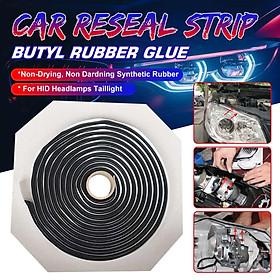 【9mm X 4m】(Universal) Car Reseal Strip Butyl Rubber Glue LED Headlight Sealant Glue Retrofit Reseal HID Headlamps Taillight Shield Glue Tapes For Car Truck