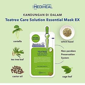 Mặt Nạ Tinh Chất Tràm Trà Ngăn Ngừa Mụn Mediheal Tea tree Care Solution Essential Mask Ex 24ml