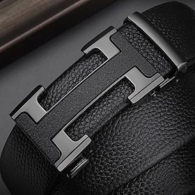Thắt lưng nam cao cấp khóa tự động dây da bền đẹp mặt thiết kế cách điệu - Phong cách lịch lãm TID89