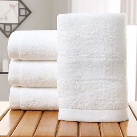 Bộ 4 khăn tắm khách sạn cao cấp KT 70 x 140cm, nặng 430g/cái, 100% cotton màu trắng
