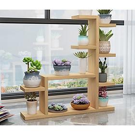 Kệ đựng chậu cây cảnh bằng gỗ tiện dụng sang trọng kích thước 70x70x13 cm