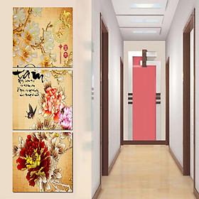 Tranh Canvas treo tường nghệ thuật | Tranh bộ nghệ thuật 3 bức | HLB_169
