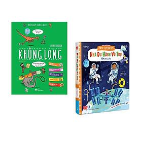 Combo 2 cuốn Hỏi đáp cùng em - Khủng long  + Sách chuyển động - First explorers - Astronauts - Nhà du hành vũ trụ