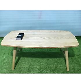 Bàn trà, bàn sofa chữ nhật gập cao su 100x50x45, bàn cafe phòng khách, bàn coffee, bàn gỗ cà phê