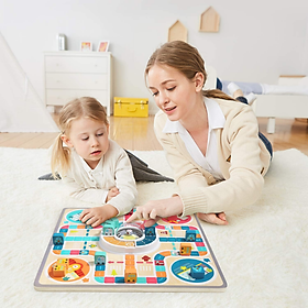Xiaomi Youpin Đồ chơi trẻ em Cờ vua bay 4 6 tuổi cha mẹ trẻ em trò chơi tương tác bàn cờ bàn cờ cho trẻ em trò chơi bảng xếp hình trò chơi câu đố nhảy cờ