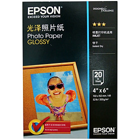 Giấy In Ảnh Glossy Thế Hệ Mới EPSON S042554 6 inch*20 tờ