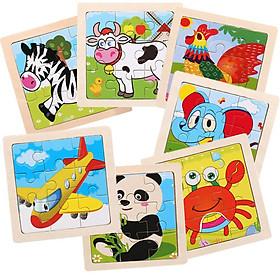 Tranh ghép hình 9 mảnh,Đồ chơi ghép hình thông minh cho bé chủ đề con vật