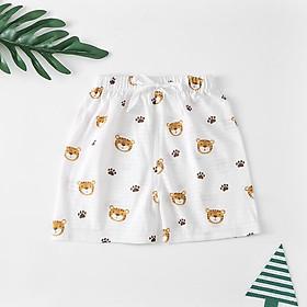 Quần đùi bé trai, quần đùi bé gái hàng cotton QuangChau có túi zip QATE30
