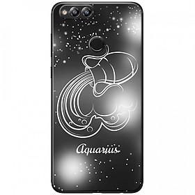 Ốp lưng  dành cho Honor 7X mẫu Cung hoàng đạo Aquarius (đen)