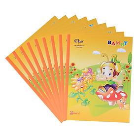 Lốc 10 Quyển Tập Học Sinh 4 Ô Ly Class Hồng Hà - Vàng - Giao Mẫu Ngẫu Nhiên (96 Trang / Cuốn)
