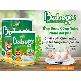 Sữa mát tăng cân, cải thiện biếng ăn và táo bón Babego từ 12 - 36 tháng, 800G-4