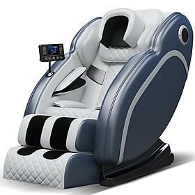 Ghế MASSAGE toàn thân thư giãn trị liệu thế hệ mới bảng điều khiển cảm ứng, loa bluetooth. Tặng kèm bộ 2 ghế đôn sofa cao 42cm màu tặng ngẫu nhiên