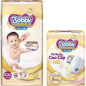 Tã Quần Bobby Extra Soft Dry XXL46 [Tặng 6 Miếng Tã Quần size XXL]