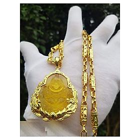 Dây Chuyền Nam Khúc Mặt Phật Di Lặc Vàng MD45