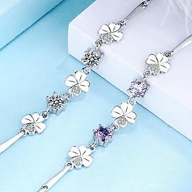 Lucky Clover Female Jewelry Bracelet Chain S925 Sterling Silver Bracelet