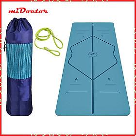 Thảm Yoga Định Tuyến 2 Lớp miDoctor + Bao Đựng Thảm Yoga Định Tuyến + Dây Buộc (Màu Ngẫu Nhiên)