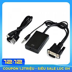 Cáp chuyển đổi VGA sang HDMI VS - hỗ trợ FullHD 1080P (đen)