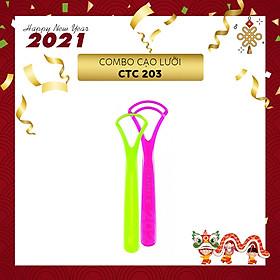 Combo 2 dụng cụ vệ sinh lưỡi Curaprox CTC 203