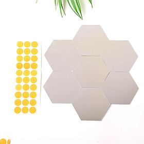 Nhãn Dán Tường Bằng Pha Lê Acrylic Hình Lục Giác (7 cái)