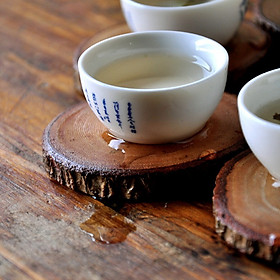 Household Natural Round Wood Tea Cup Mat Coffee Mug Drinks Holder Table Mat Wooden Coasters Coffee Store
