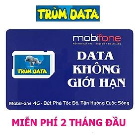 SIM 4G MOBIFONE TRÙM DATA FV99 (KHÔNG GIỚI HẠN DUNG LƯỢNG, Tốc Độ Luôn Luôn Cao 2Mbs) FREE 02 THÁNG ĐẦU (MIỄN PHÍ 60 NGÀY)
